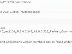 Official OS 6.0.0.723 for the BlackBerry Bold 9780 from Partner Communications Israel