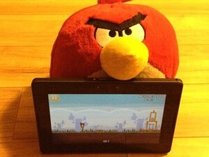 Angry Birds HD for the BlackBerry PlayBook updated to v1.6.3.1