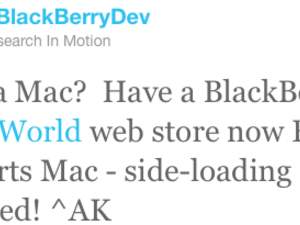 BlackBerry App World webstore now fully supports Mac