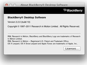 BlackBerry Desktop Software For Mac v2.2.0 now available for download in the BlackBerry Beta Zone