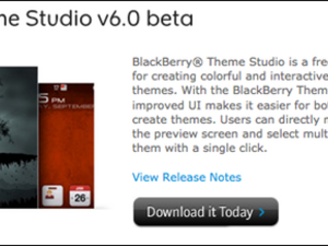 BlackBerry Theme Studio v6.0 beta 1 download now available!