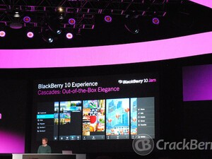 BlackBerry 10 homescreen and Cascades elements visualized at BlackBerry 10 Jam!
