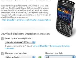 New BlackBerry 6 device simulators now available for the Bold 9650 and Curve 3G 9330