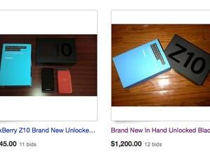 Unlocked BlackBerry Z10's fetching over $1K on eBay