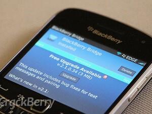 BlackBerry Bridge updated to v2.1.0.34
