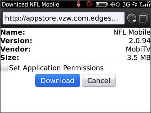 Verizon updates NFL Mobile - Now BlackBerry 6 compatible