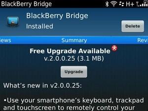 BlackBerry Bridge v2.0.0.25 now available in BlackBerry App World