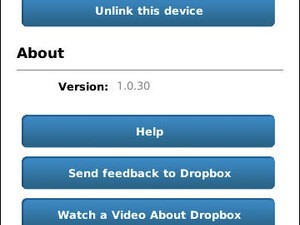 Dropbox for BlackBerry updated to v1.0.30
