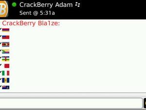 BlackBerry Messenger 5.0 Hidden Country Flags