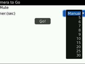 Camera To Go Helps Silence BlackBerry Camera Shutter Noise and Adds Picture Timer