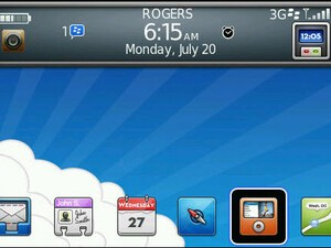 Free SodaBerry Bottom Dock  With Today Plus Theme for the BlackBerry Bold