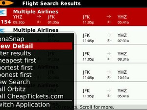 Kayak Flight And Hotel Search App For BlackBerry Updated