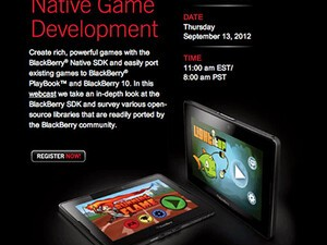 RIM hosting BlackBerry Native Game Development webcast on September 13