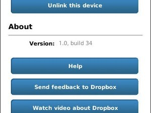 Dropbox for BlackBerry updated to v1.0.34