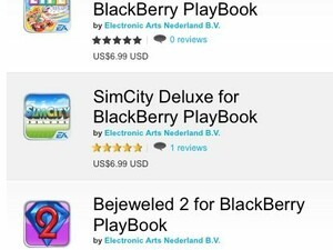 EA Games continues support for the BlackBerry PlayBook - releases The Game of Life, SimCity Deluxe and Bejeweled 2