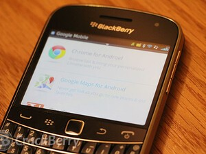 Where did the Google Mobile apps for BlackBerry go?