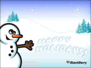 Get Your Free Holiday Wallpapers From MyBlackBerry Or Make Your Own With FaceBook
