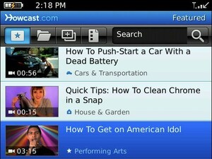 """Get """"How To"""" Videos From HowCast On Your BlackBerry"""