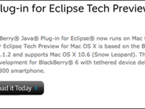 BlackBerry Java tools Eclipse plugin now available for Mac - download today!