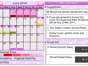 Ladies, track your period on the go with Period Calendar Deluxe