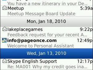 Pageonce Personal Assistant 2.5 for BlackBerry Smartphones Now Offering Push Notifications