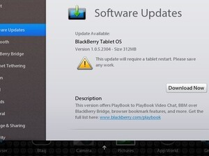 BlackBerry PlayBook OS updated to v1.0.5.2304