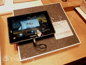 RIM wasn't at IFA 2012 but the BlackBerry PlayBook 3G+ was
