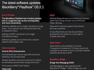 RIM preparing BlackBerry PlayBook OS 2.1 rollout as PlayBook 4G launch nears