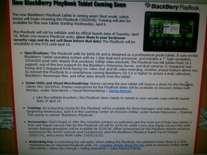 Radio Shack BlackBerry PlayBook launch details