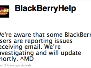 Having Issues With Your BlackBerry Data Service Today?
