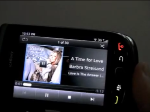 BlackBerry 6 running on BlackBerry 9800 video shows off its media capabilities