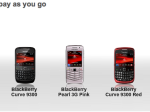 Vodafone UK now offers BlackBerry smartphones on Pay as you Go