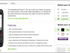 TELUS now offering the BlackBerry Pearl 3G for $200, no contract