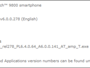 Official OS 6.0.0.141 released for the BlackBerry Torch 9800