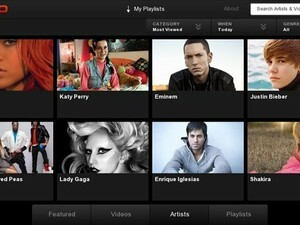 VEVO for the BlackBerry PlayBook now available!