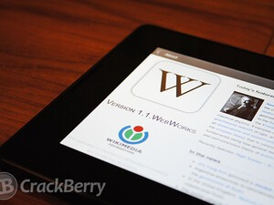 Official Wikipedia app for the BlackBerry PlayBook arrives in BlackBerry App World