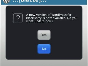 WordPress for BlackBerry updated To v1.4.4