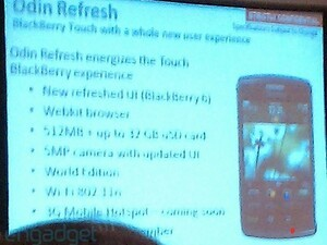 BlackBerry Storm 3 details shown off in training slide?!? Looks like Mobile Hotspot is coming to BlackBerry!