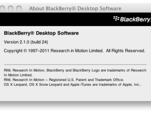 BlackBerry Desktop Software for Mac v2.1.0.24 now available in the BlackBerry Beta Zone