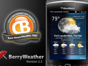 BerryWeather for BlackBerry -  Version 2.5 now available with push notifications, custom icons and more!
