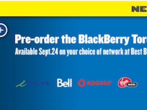 Best Buy Canada now taking pre orders for BlackBerry Torch
