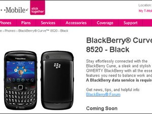T-Mobile Lists BlackBerry Curve 8520 As Coming Soon