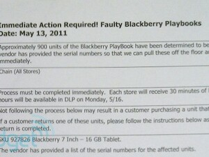 RIM recalling over 900 faulty BlackBerry PlayBooks, is yours on the list?