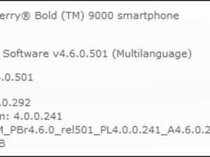 Official OS 4.6.0.292 For The BlackBerry Bold Released