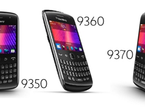 RIM unveils the BlackBerry Curve 9350, 9360 and 9370