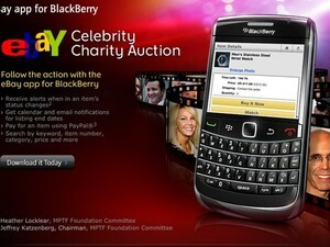 RIM & eBay team up to help promote celebrity auction