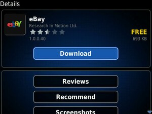 eBay For BlackBerry Updated:  Additional Devices Now Supported