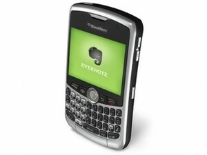 Evernote Now Available For BlackBerry Curve 83XX Series