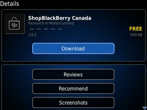RIM Adds ShopBlackBerry Store Application To BlackBerry App World