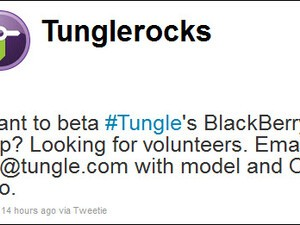 Tungle Looking For Beta Testers For New BlackBerry App